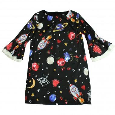 Monnalisa abito nero fantasia galassia per bambina by Monnalisa 412916