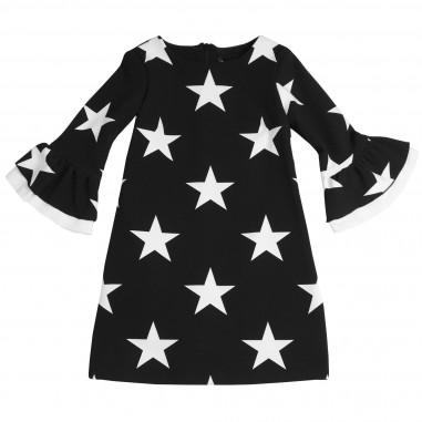 Monnalisa abito nero stampa stelle per bambina by Monnalisa 412909