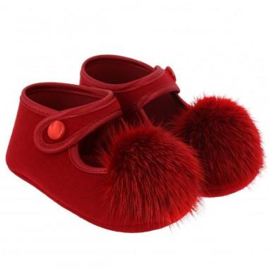 Monnalisa ballerina pon pon rossa per neonata by Monnalisa 392016red