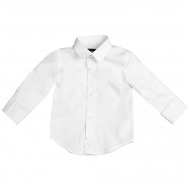 Monnalisa Boys white basic shirt by Monnalisa 282301-bia