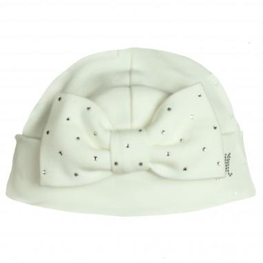 Monnalisa cappello panna con fiocco per neonata by Monnalisa 372CAPwhite