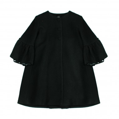 Monnalisa Cappotto bouclè nero per bambina by Monnalisa 172107black