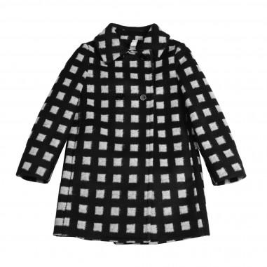 Monnalisa cappotto check nero per bambina by Monnalisa 172115-5050