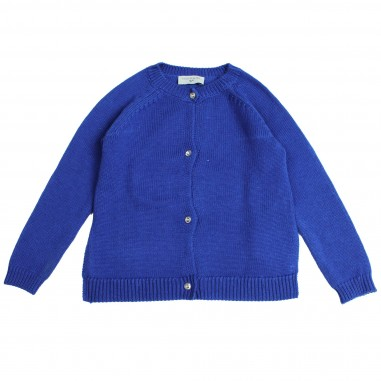 Monnalisa Girls Blue wool cardigan by Monnalisa 192806