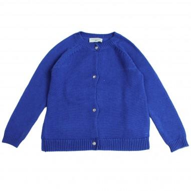 Monnalisa cardigan lana bluette per bambina by Monnalisa 192806