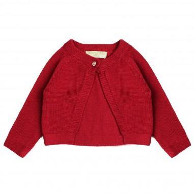 Monnalisa cardigan lana rosso per bambina by Monnalisa 732801red