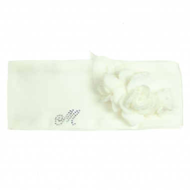 Monnalisa fascia bouquet panna per neonata by Monnalisa 732009white