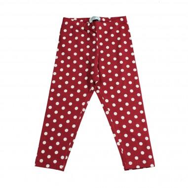 Monnalisa leggings rosso a pois per bambina by Monnalisa 112402