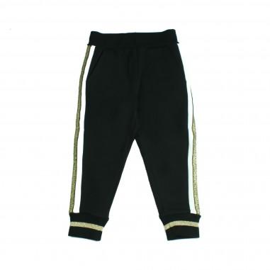 Monnalisa pantalone felpa bande oro per bambina by Monnalisa 192404R4