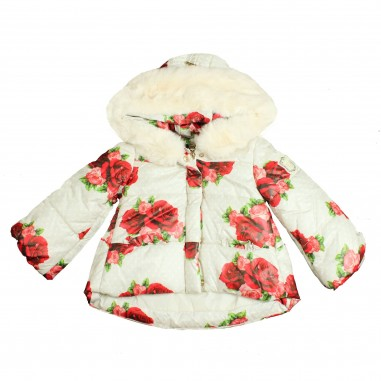 Monnalisa piumino panna stampa rose per neonata by Monnalisa 392108