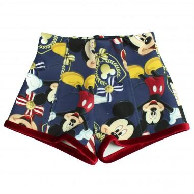 Monnalisa shorts vita alta mickey mouse per bambina by Monnalisa 112409