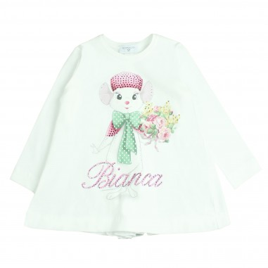 Monnalisa t-shirt bianca&bernie per bambina by Monnalisa 192610SA