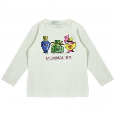 Monnalisa T-shirt panna stampata per bambina by Monnalisa 112627P10001