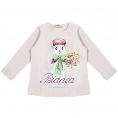 Monnalisa t-shirt rosa bianca&bernie per bambina by Monnalisa 192609S4
