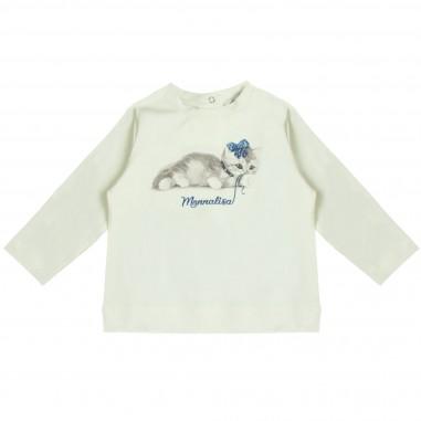 Monnalisa t-shirt stampa gattino per neonata by Monnalisa 392621PE