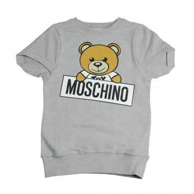 Moschino Kids Abito grigio maxi-felpa per bambina by Moschino Kids HDV06OLDA03-GRI