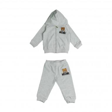 Moschino Kids Completo felpa & pantalone grigio per neonati by Moschino Kids MNK00GLDA03