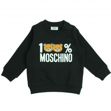 Moschino Kids Felpa nera 100% Moschino per bambini by Moschino Kids MTF00TLDA03-nero