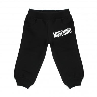 Moschino Kids Black cotton joggers by Moschino Kids MMP023LDA03