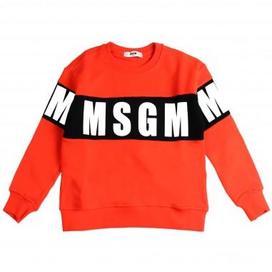 MSGM Felpa arancione box logo per bambino by MSGM Kids 015831-030
