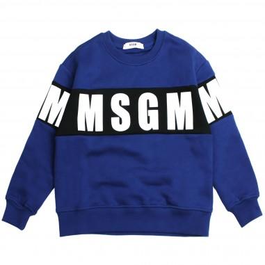 MSGM Felpa blu logo per bambini by MSGM Kids 015831-130