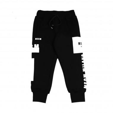 MSGM Pantalone felpa nero per bambino by MSGM Kids 015845-110