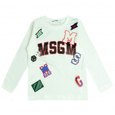 MSGM T-shirt scritta e patches per bambini by MSGM Kids 016512-002