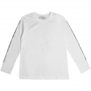 Neil Barrett Kids T-shirt bianca in cotone per bambino by Neil Barrett Kids 016190-001