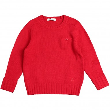 Paolo Pecora Boys Red crewneck sweater by Paolo Pecora Kids PP1403-ROSSO