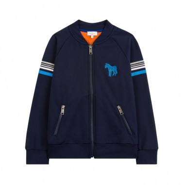 Paul Smith Junior Felpa tecnica blu per bambini by Paul Smith Junior 5M17582-492-SAULO