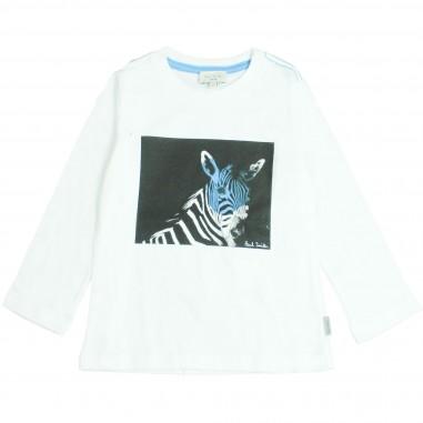 Paul Smith Junior T-shirt bianca stampa zebra per bambini by Paul Smith Junior 5M10652-01-STANLEY