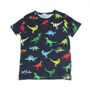 Paul Smith Junior T-shirt blu stampa dinosauri per bambini by Paul Smith Junior 5M10522-492-SHAMAR