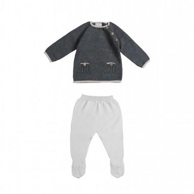Paz Rodriguez Completo baby maglia & pantalone per neonati by Paz Rodriguez 103-01706-tundra