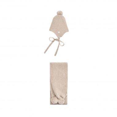 Paz Rodriguez Cuffia & sciarpa lana per neonati by Paz Rodriguez 140-12047-desvan