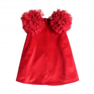 Piccola Ludo Abito rosso svasato smanicato per bambina by Piccola Ludo melbates0269010