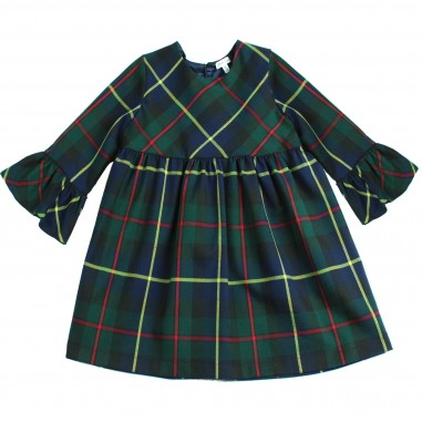Piccola Ludo Abito scozzese rouches per bambina by Piccola Ludo loistes027144160