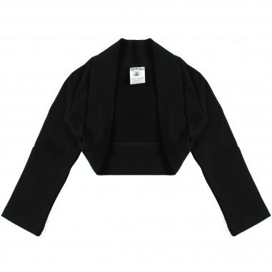 Piccola Ludo Girls Black cotton shrug cardigan by Piccola Ludo lucytes0251099