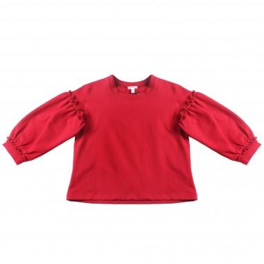Piccola Ludo Felpa rossa manica palloncino per bambina by Piccola Ludo magalites02513285