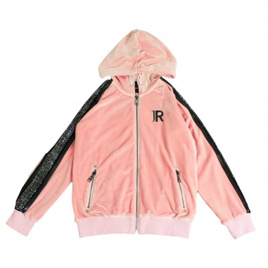 Richmond Felpa rosa aperta con cappuccio per bambini by Richmond Junior RGA18147FE