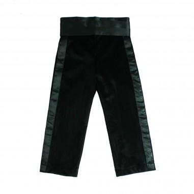 Piccola Ludo Pantalone nero in velluto liscio per bambina by Piccola Ludo theates028143344