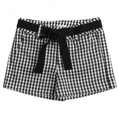 Piccola Ludo Shorts quadretto con cinta per bambina by Piccola Ludo oriettates02620145