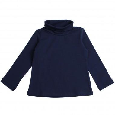 Piccola Ludo Girls Blue jersey turtleneck t-shirt by Piccola Ludo felicita05302590119