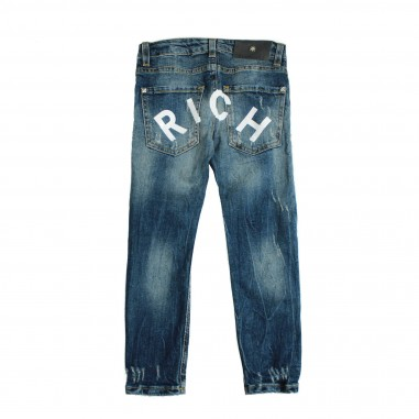 Richmond Jeans blu scritta Rich per bambini by Richmond Junior RBP18511JE