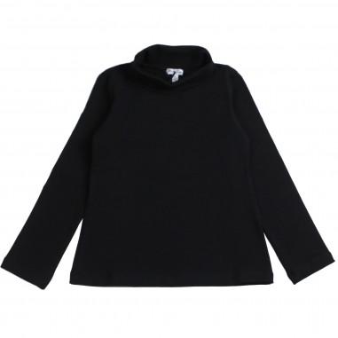 Piccola Ludo Girls Black jersey turtleneck t-shirt by Piccola Ludo felicita05302590099