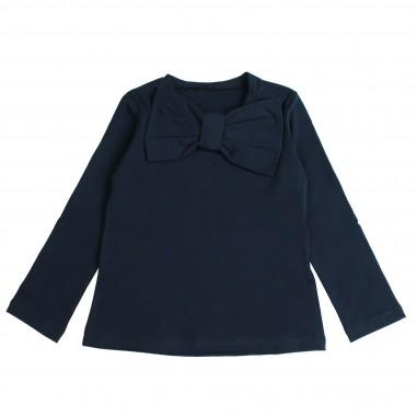 Piccola Ludo T-shirt jersey blu con fiocco per bambina by Piccola Ludo devates02590119