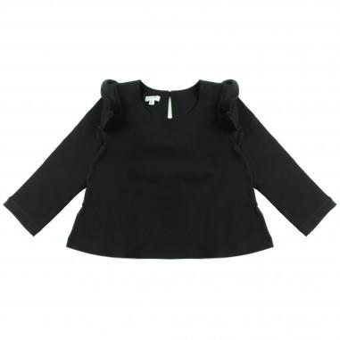 Piccola Ludo T-shirt jersey nera svasata per bambina by Piccola Ludo chiccates0259099