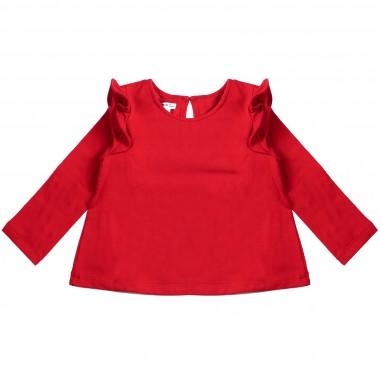 Piccola Ludo T-shirt jersey rossa svasata per bambina by Piccola Ludo chiccates0259010