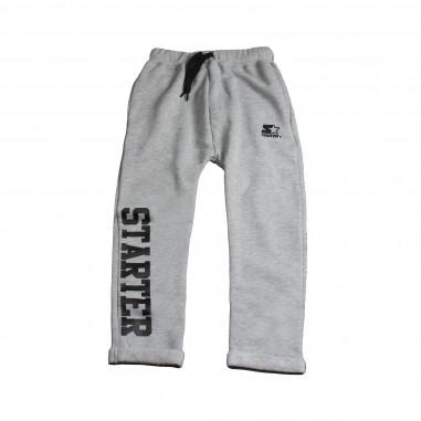 Starter Pantalone felpa grigio con scritta per bambini by Starter Kids PFST8302J-Grigio