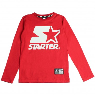 Starter T-shirt rossa jersey con logo per bambini by Starter Kids TSST8301J