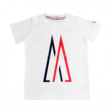 Moncler Boys moncler logo jersey t-shirt Kids 80237-5083907034mo19